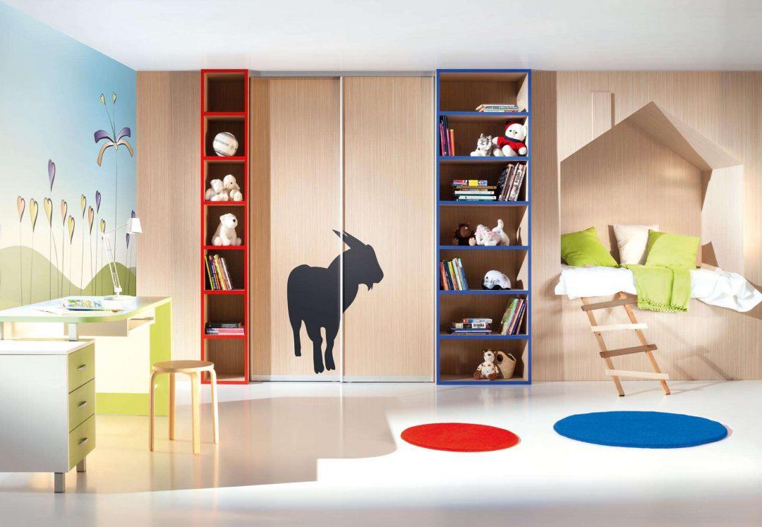 Gyerekszoba beépített szekrény
