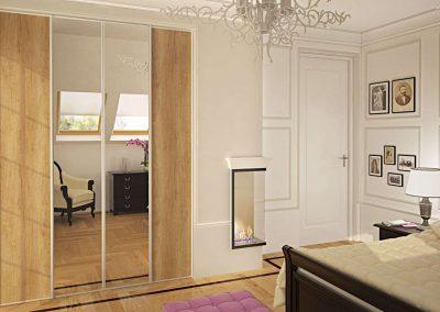 Tükrös beépített szekrény hálószobába