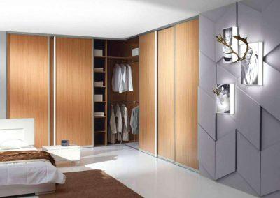 L alakú beépített szekrény hálószobába