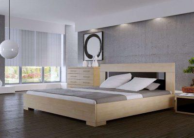 Négy fiókos komód natúr ágykerettel hálószobába