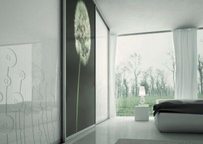 Nappali beépített szekrény fotófóliával