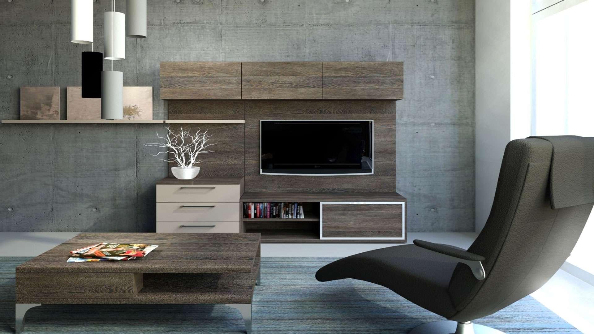 Tv fal és dohányzó asztal a nappaliban