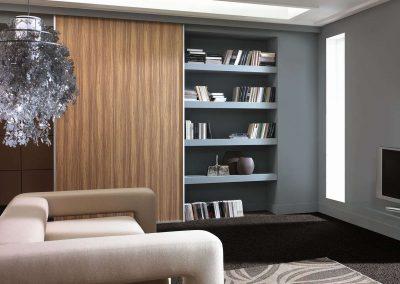 Nappali szobába épített tolóajtós beépített szekrény