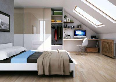 Tetőtéri beépített szekrény 1