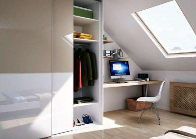 Tetőtéri beépített szekrény 2