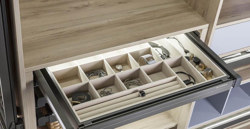 Mocca prémium beépített szekrény és gardróbszekrény kiegészítők