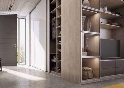 Előszoba beépített szekrény
