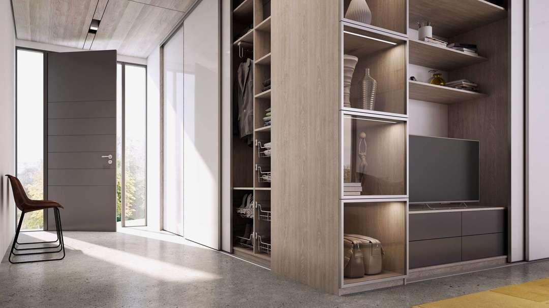 Előszoba beépített szekrény készítés