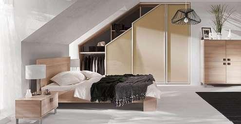 Tetőtéri beépített szekrény, gardróbszekrény készítés
