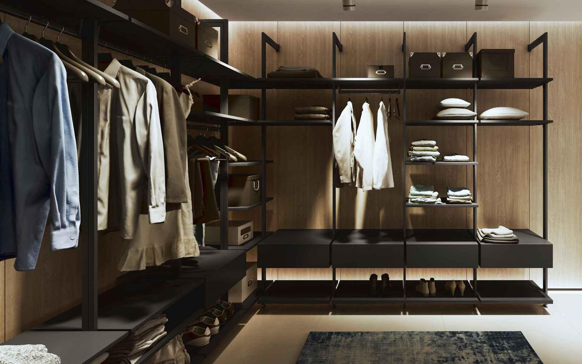 L alakú szekrény gardróbszoba