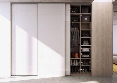 Fehér előszoba szekrény