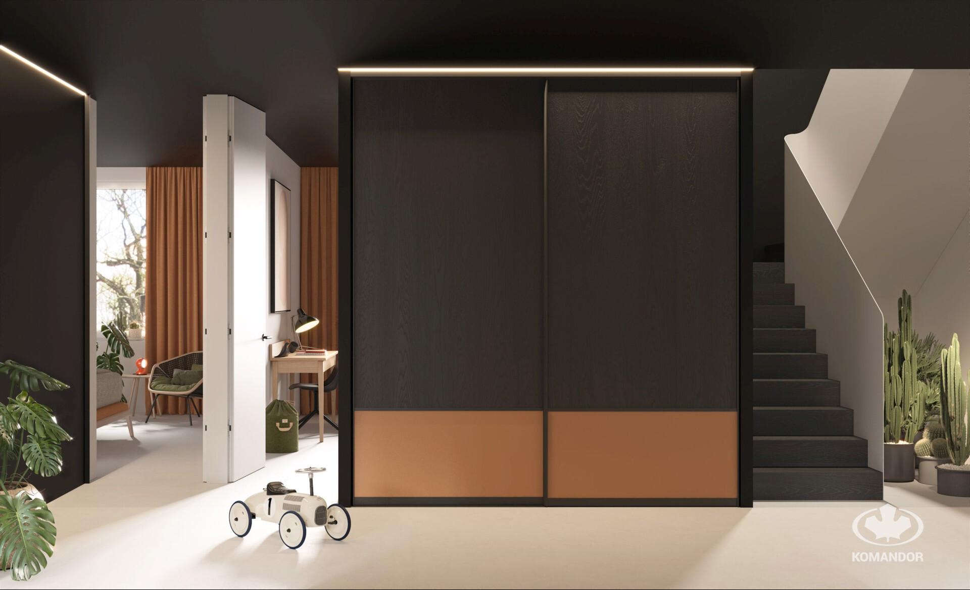 Modern stílusú beépített szekrény