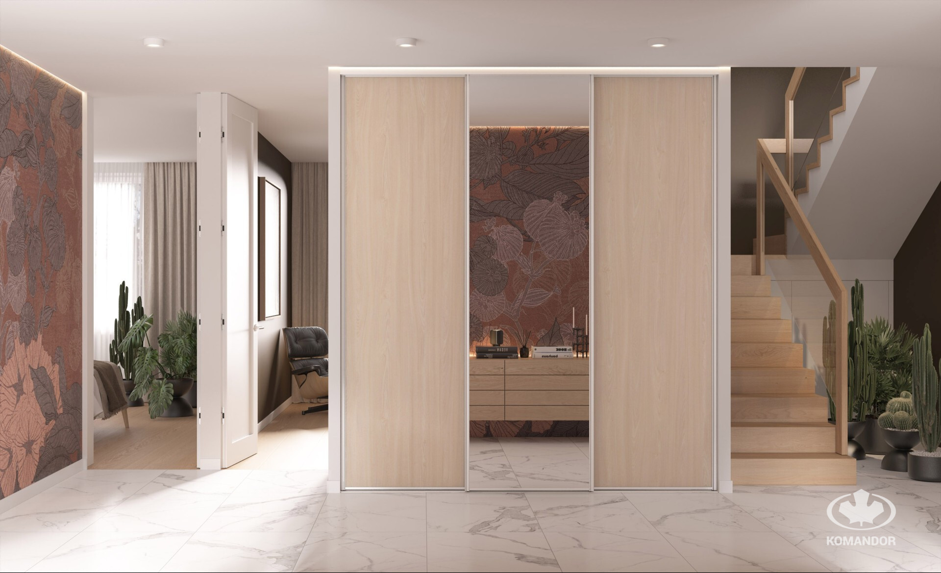 Klasszikus stílusú beépített szekrény