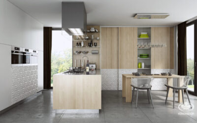 Modern konyha egy szigettel