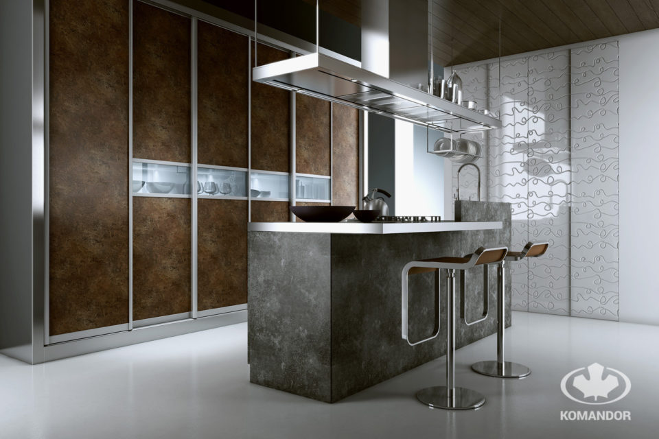 Modern konyha szigettel